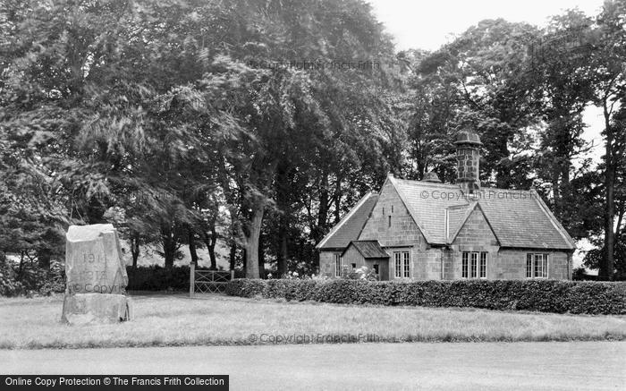 Photo of Lowick, Barmoor War Memorial c.1955