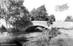 Lowick Bridge, River Crake c.1955