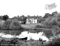 Loxwood, The Onslow Arms And River Wey c.1950
