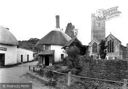Luccombe, Village And Church c.1955