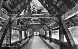 Interior Of The Kapellbrücke c.1935, Lucerne