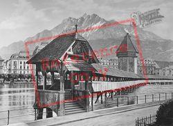 Kapellbrücke c.1935, Lucerne