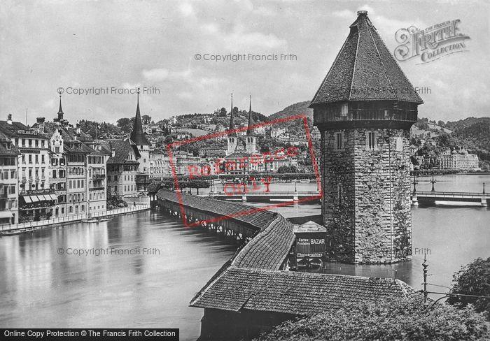 Photo of Lucerne, Kapellbrücke c.1935