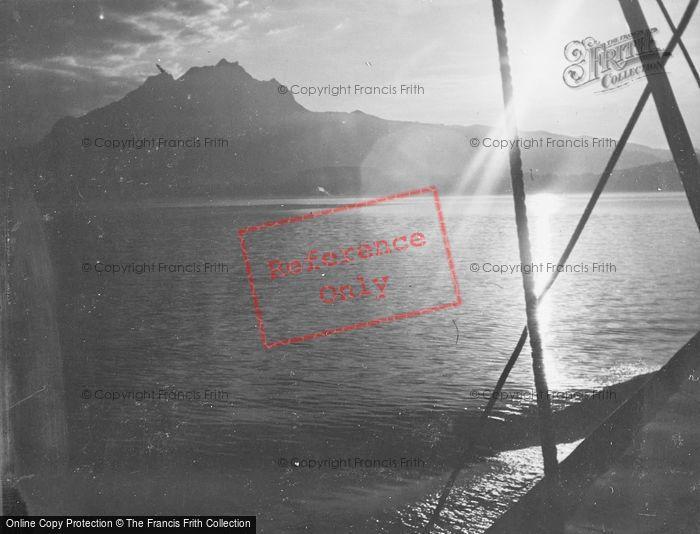 Photo of Lucerne, Lake And Mount Pilatus At Sunset c.1935