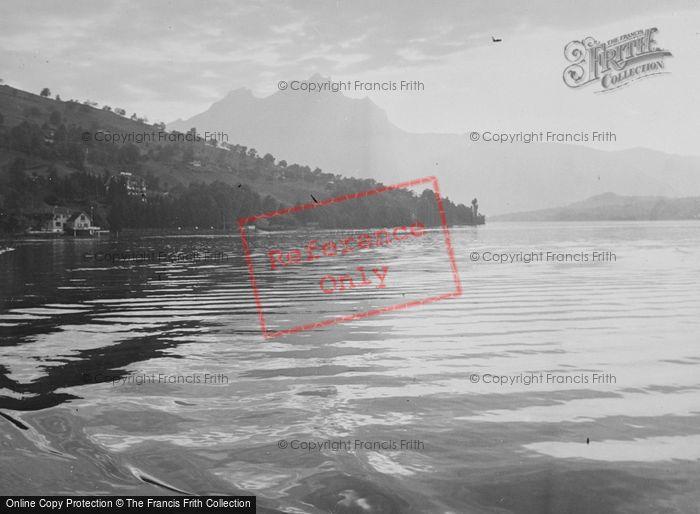 Photo of Lucerne, Lake And Mount Pilatus c.1935