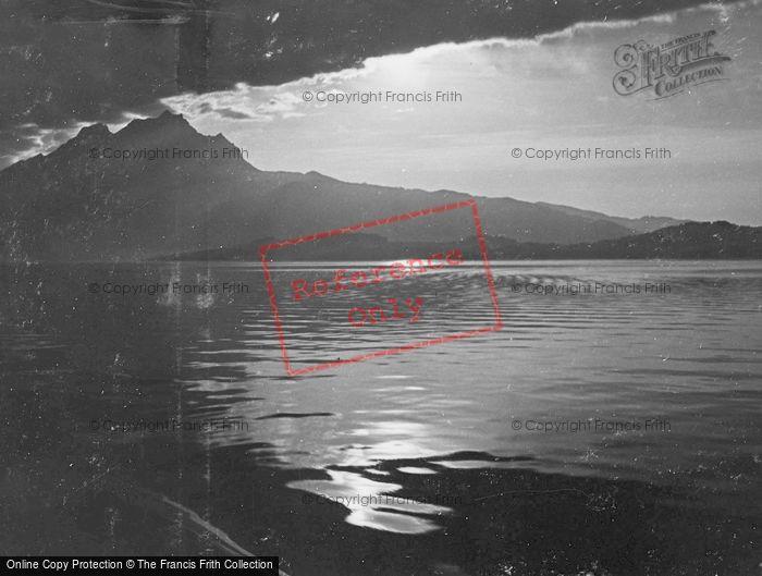 Photo of Lucerne, Lake At Sunset c.1935
