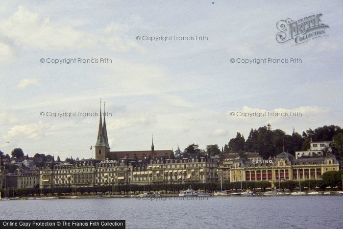Photo of Lucerne, The Cathedral From The Lake 1983