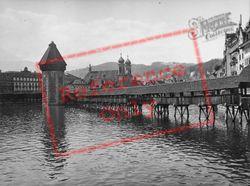 The Kapellbrücke And Wasserturm 1938, Lucerne