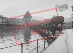 The Kapellbrücke And Wasserturm c.1935, Lucerne