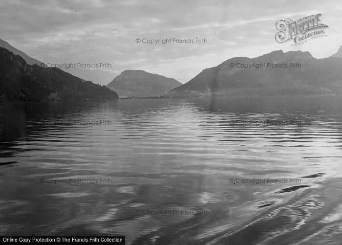 Photo of Lucerne, The Lake c.1935