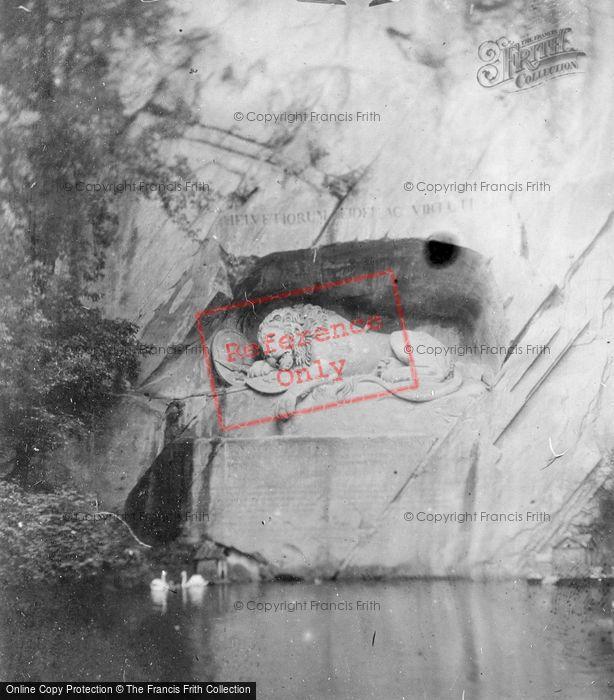 Photo of Lucerne, The Lion Monument c.1880