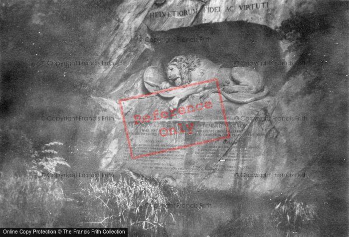 Photo of Lucerne, The Lion Monument c.1930