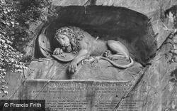 The Lion Monument c.1935, Lucerne
