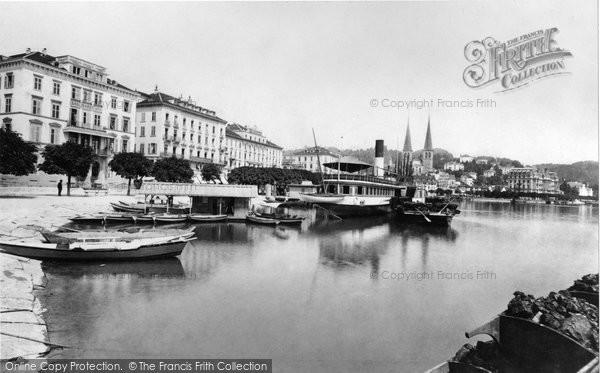 Photo of Lucerne, The Quay c.1882