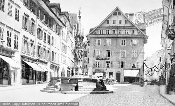 Photo of Lucerne, Weinmarket c.1870