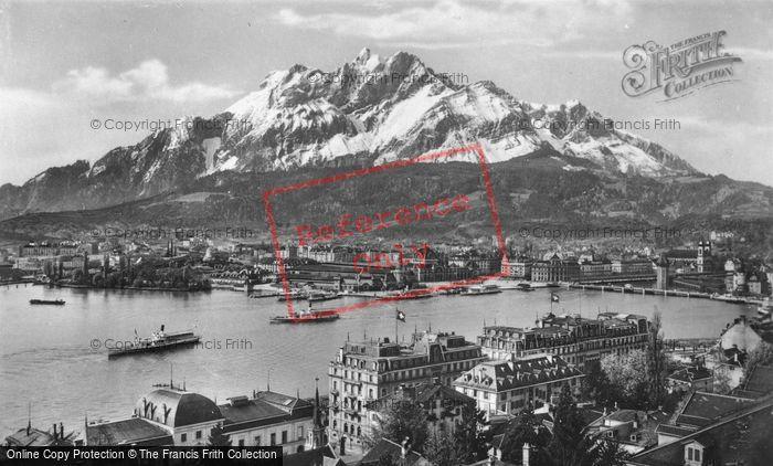 Photo of Lucerne, With Pilatus c.1935