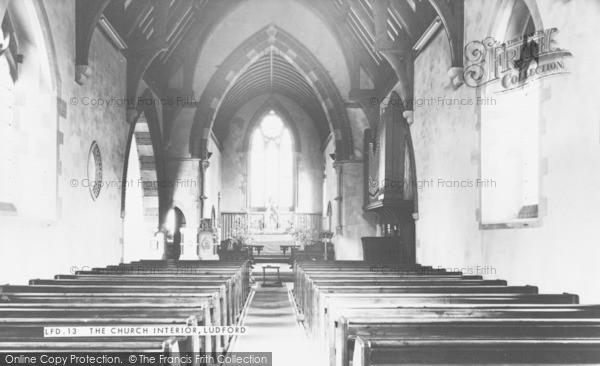 Photo of Ludford, Church Interior c.1950