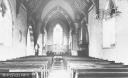 Church Interior c.1950, Ludford