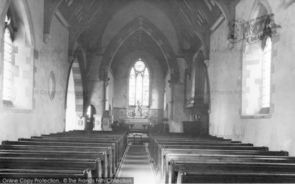 Photo of Ludford Magna, The Church Interior c.1955