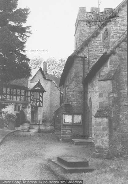 Photo of Ludford, Manor And Church c.1950