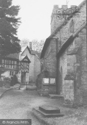 Manor And Church c.1950, Ludford