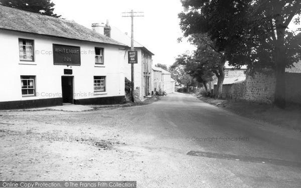 Ludgvan, White Hart Inn c1960
