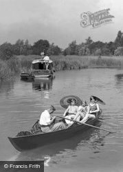 Boating, Womack Water c.1930, Ludham