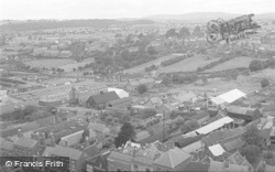 Ludlow, Aerial View From St Laurence's Parish Church 1949