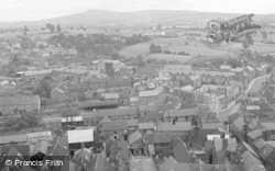 Ludlow, And Clee Hill From Church Tower 1949