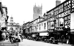 Ludlow, Broad Street And Angel Hotel 1936