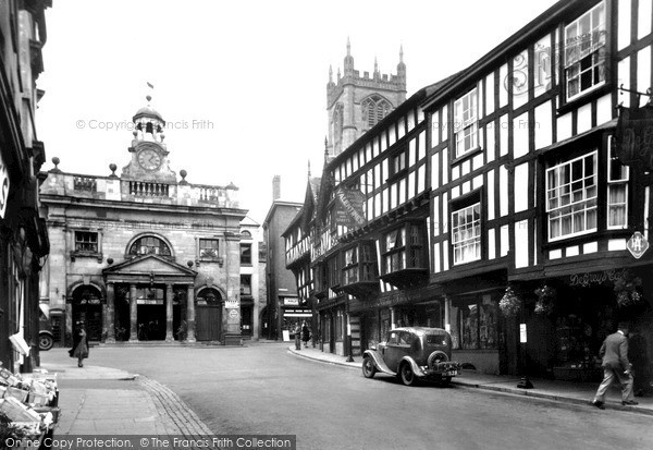 Ludlow, Butter Cross And Broad Street 1949