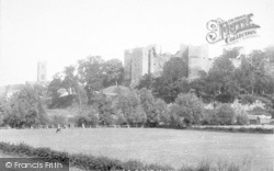 Ludlow, Castle And Church 1896