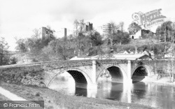 Ludlow, Castle And Dinham Bridge c.1965