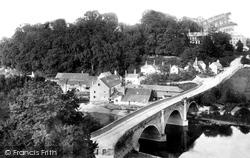 Ludlow, Dinham Bridge And Castle Hill 1892