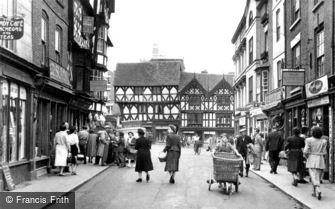 Ludlow, High Street c1950