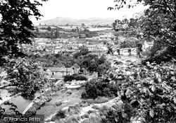 Ludlow, The Bridge And Clee Hill From Whitcliffe c.1955