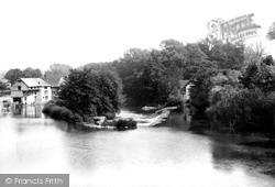 Ludlow, The Weir And Mill 1892