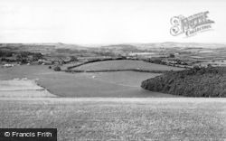 Ludwell, View From Win Green c.1955