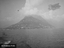 Monte Bré From The Lake c.1938, Lugano