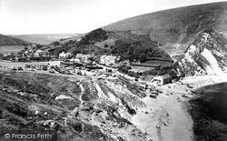 Beach And Village c.1960, Lulworth Cove