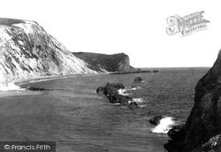 Lulworth Cove, Man O'war Rocks 1903
