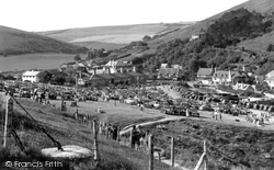 The Car Park c.1955, Lulworth Cove