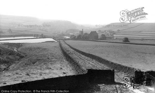 Lumbutts, Village from the Moor c1955