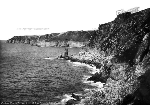 Photo of Lundy Island, West Coast 1890, ref. 24748