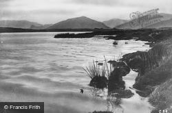 Lake, Mountains And Loch Side c.1935, Luss