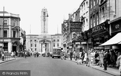 Luton, George Street And Town Hall c.1950