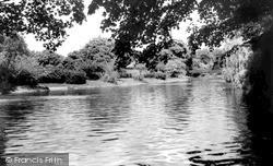The Lake, Wardown Park c.1960, Luton