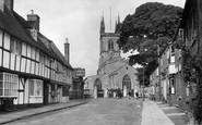 Lutterworth, Church Street and Church c1955