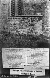 Lydford, Churchyard, Watchmaker's Epitaph 1906