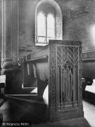 Lydford, St Petrock's Church Seat, St Edward The Confessor 1925
